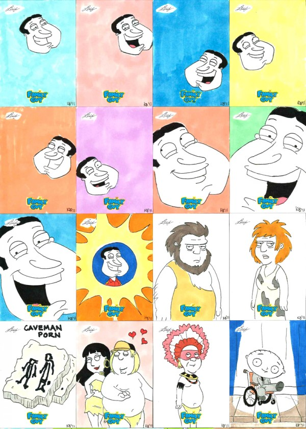 """Family Guy"" sketch cards"
