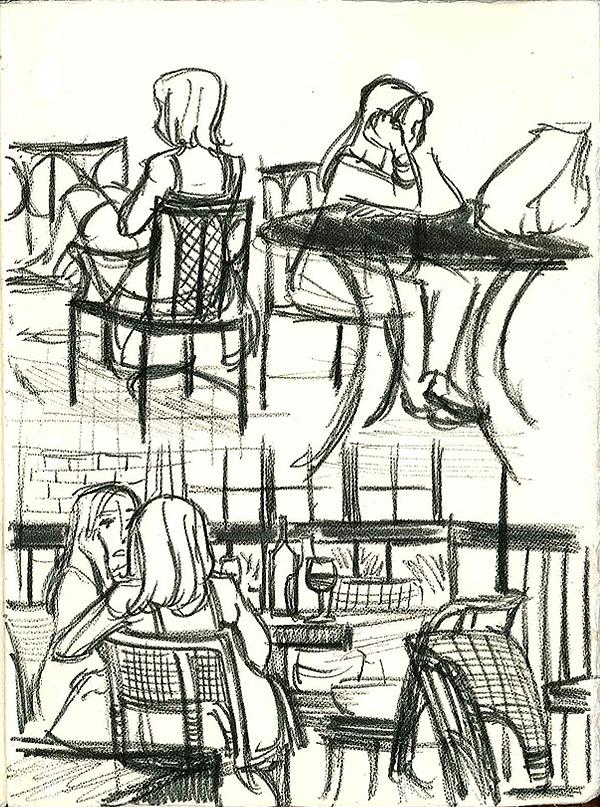 AKA Bistro sketch page