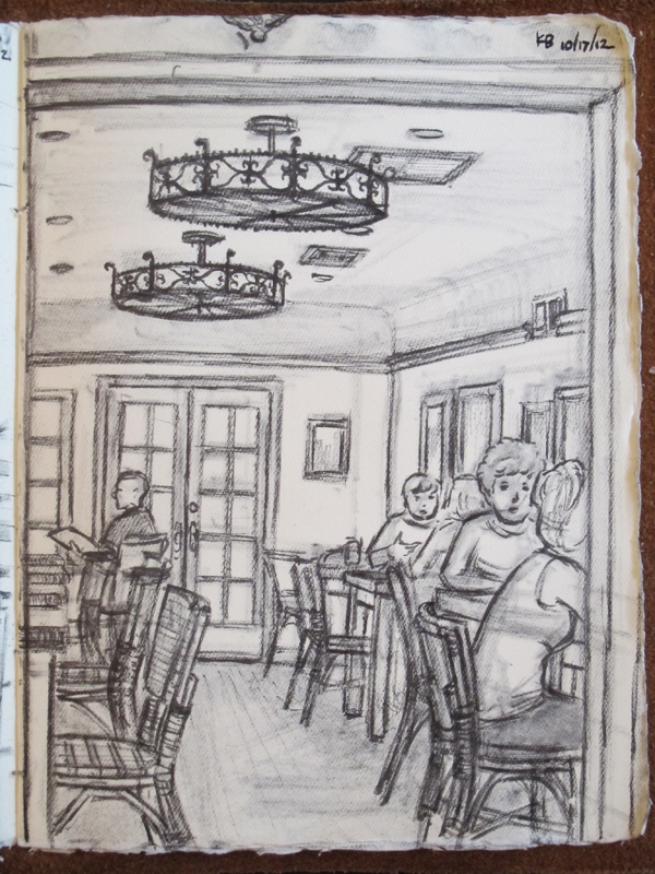 Aroma dining room sketch
