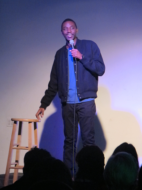 Jerrod Carmichael doing his stand-up bit at Titmouse on Wednesday, December 12, 2012.