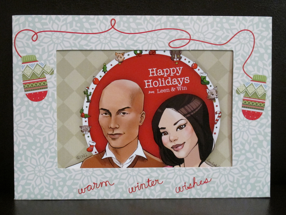 Christmas card by Leen Isabel and Win Dong