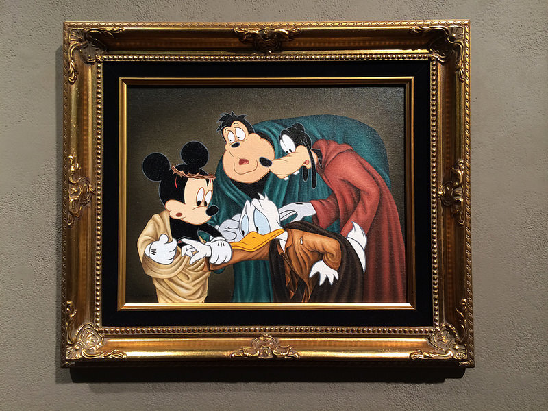 """The Incredulity of Saint Donald (Caravaggio Tribute)"" by José Rodolfo Loaiza Ontiveros"